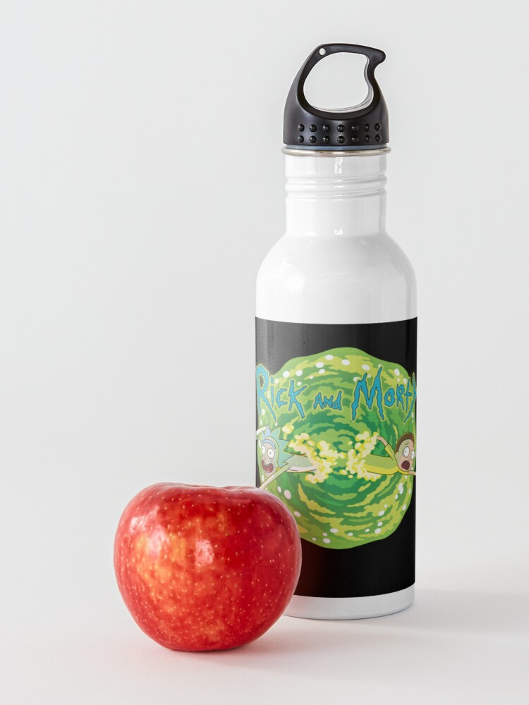 Alternate view of Rick and Morty black background  Water Bottle