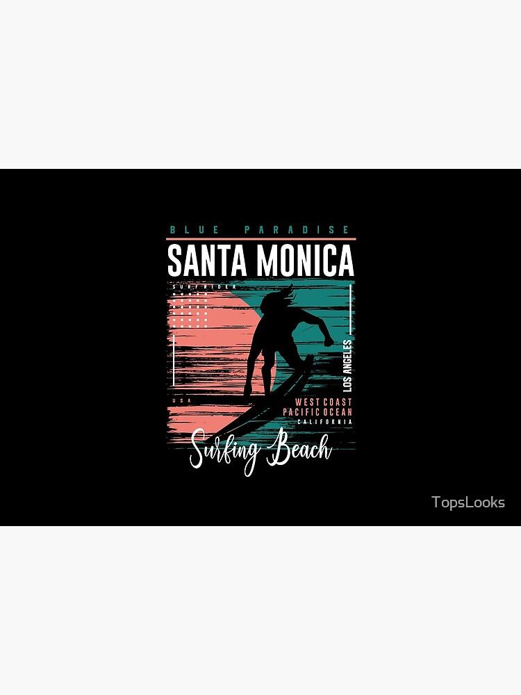 Santa Monica Surfing Beach by TopsLooks