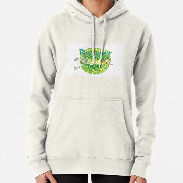 Rick and Morty white background  Pullover Hoodie