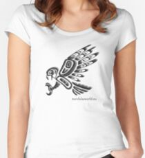 Amerindian Eagle n1 Women's Fitted Scoop T-Shirt