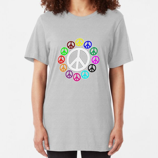 surrounded by peace Slim Fit T-Shirt