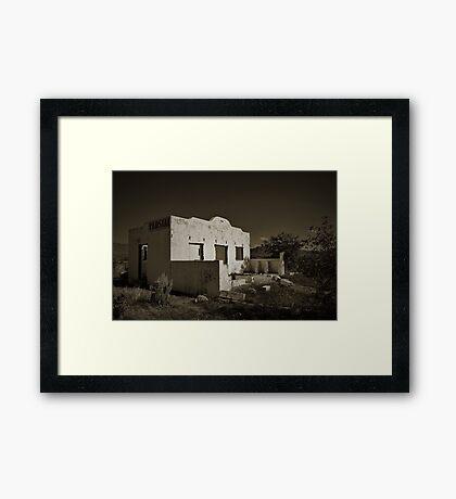 Forgotten Road Stall Framed Print