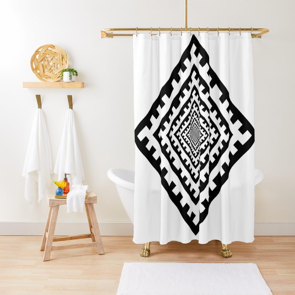 Template Shower Curtain