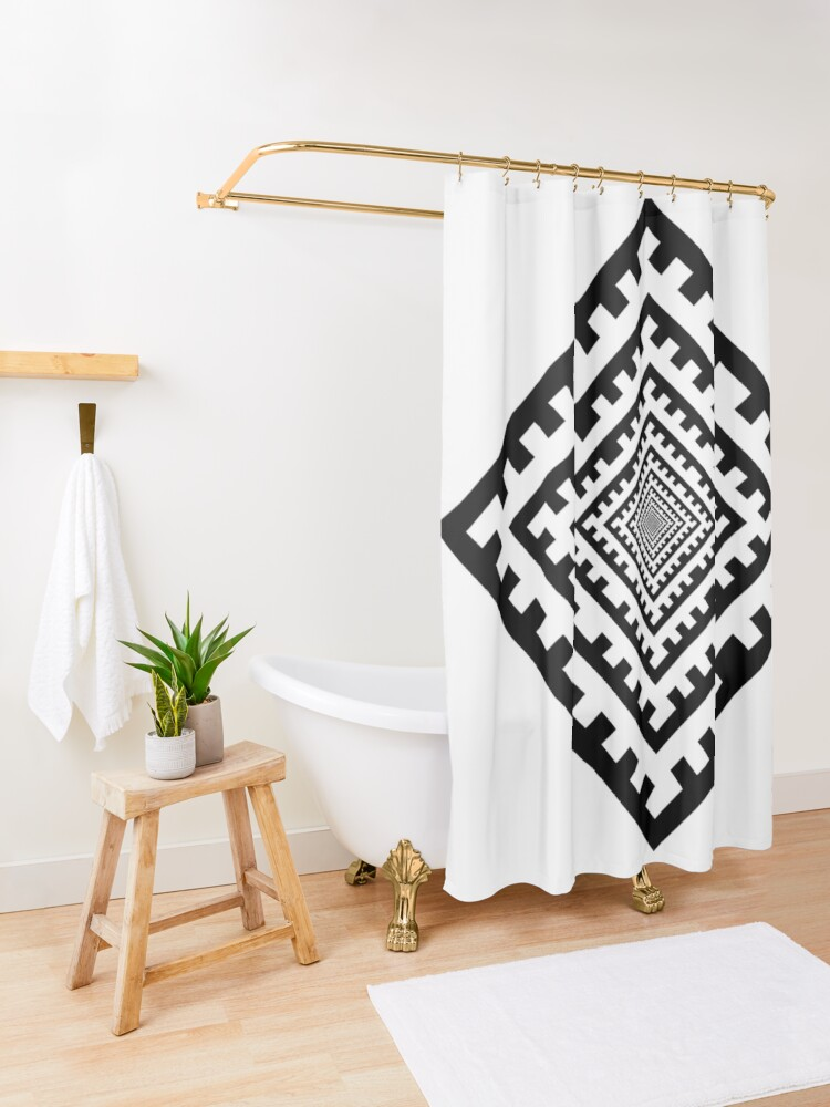 Alternate view of Template Shower Curtain