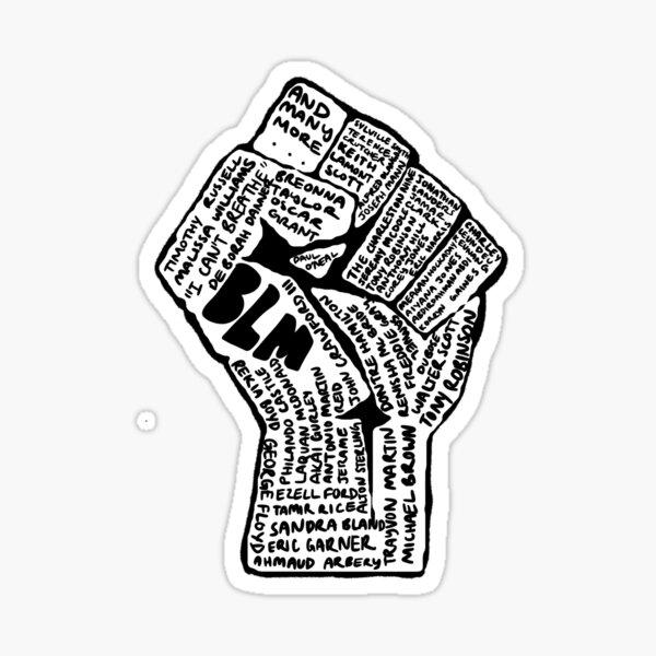 BLM Name Fist Sticker