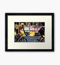 Bradley Wiggins - Tour de France 2012 in Paris Framed Print