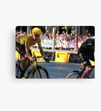 Bradley Wiggins - Tour de France 2012 in Paris Canvas Print
