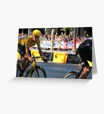 Bradley Wiggins - Tour de France 2012 in Paris Greeting Card