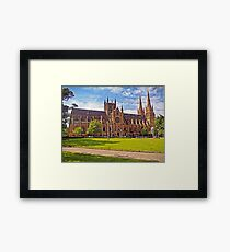 132 Years For Gothic Revival - St Mary's Cathedral, Sydney Framed Print