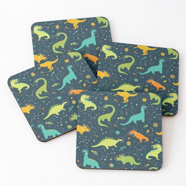 Dinosaur Space Adventure Coasters (Set of 4)