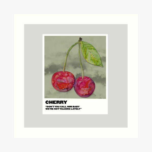 cherry polaroid Art Print