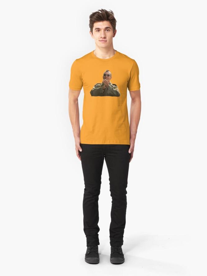 Vista alternativa de Camiseta ajustada Taxi Driver - Aplausos