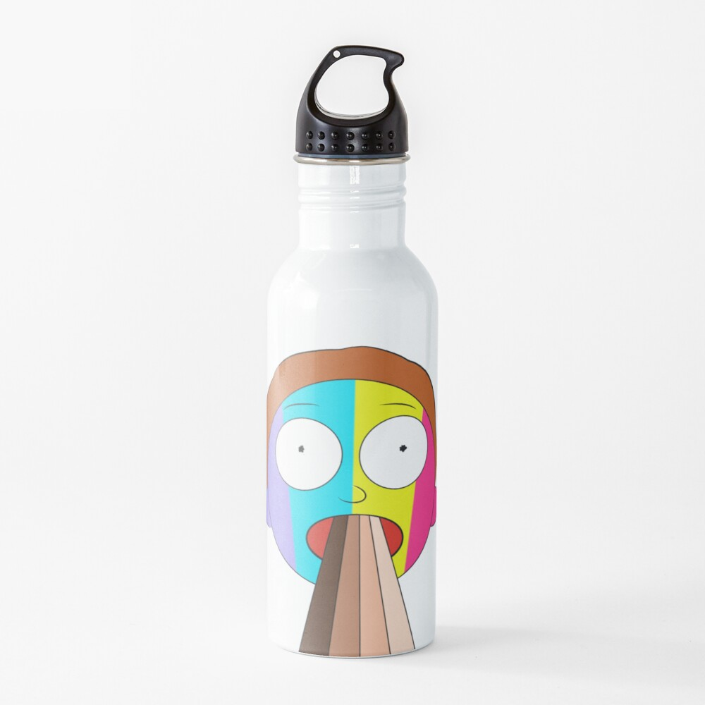 Inverted Rainbow Morty Water Bottle