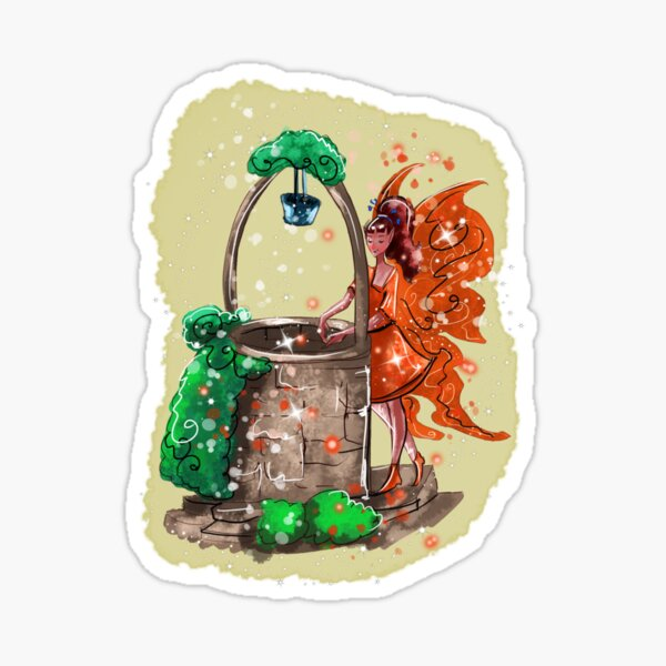 Wishitora The Wishing Well Fairy™ Sticker