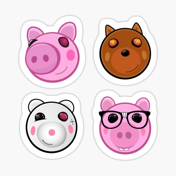 Piggy Kawaii Roblox Angel Piggy Roblox Doggy Stickers Redbubble