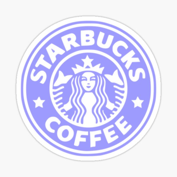 purple starbucks logo Sticker
