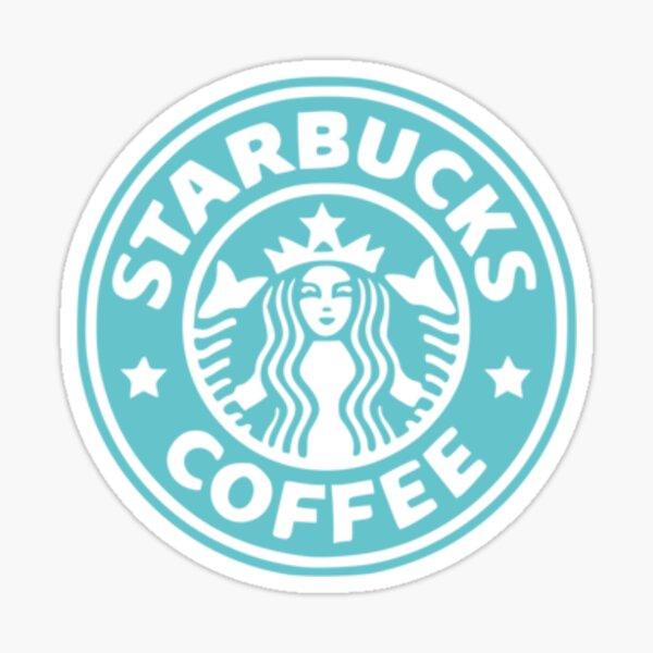 aqua starbucks logo Sticker