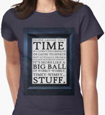 Wibbly-Wobbly, Timey-Wimey.. Stuff! Women's Fitted T-Shirt
