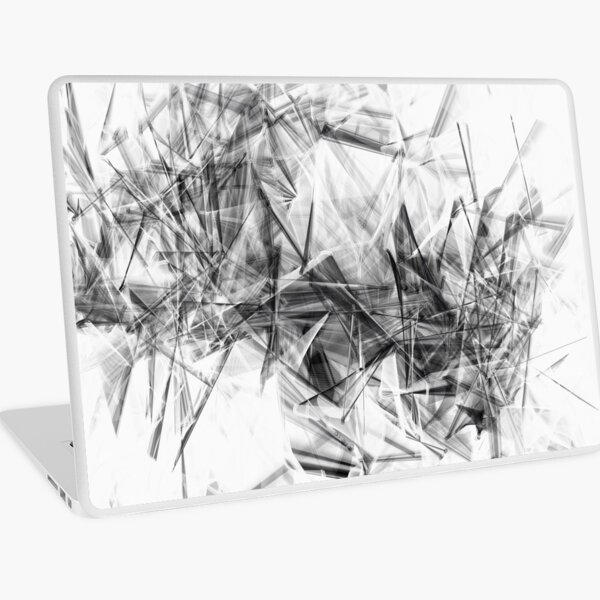 Crystal Shards Generative Art Laptop Skin