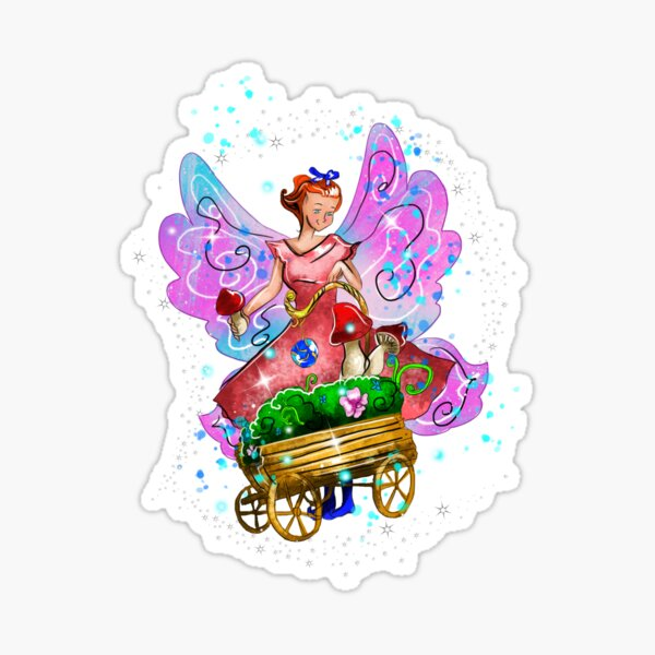 Wagonia The Wheelbarrows and Wagons Fairy™ Sticker