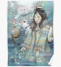 Sedna, Inuit Goddess of the Sea (Color) Poster