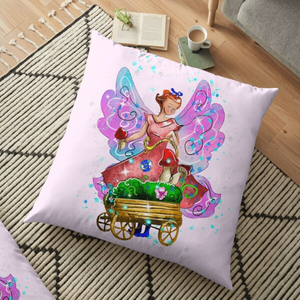 Wagonia The Wheelbarrows and Wagons Fairy™ Floor Pillow