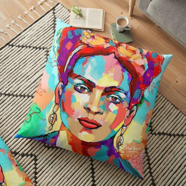 frida kahlo Floor Pillow