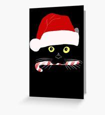 Christmas Cat Closeup Greeting Card
