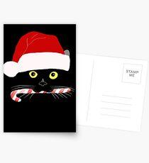 Christmas Cat Closeup Postcards