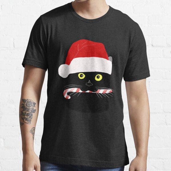 Christmas Cat Closeup Essential T-Shirt