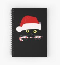 Christmas Cat Closeup Spiral Notebook