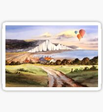 The Seven Sisters Cuckmere Haven  Sticker