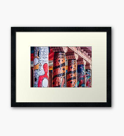 Colorful Columns in Santa Fe Framed Print