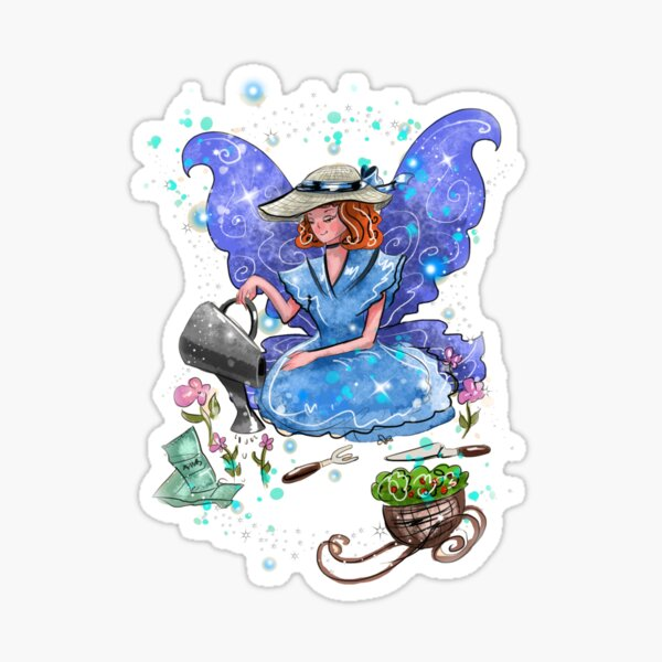 Watrina The Watering Can, Tool And Flowerpot Fairy™ Sticker