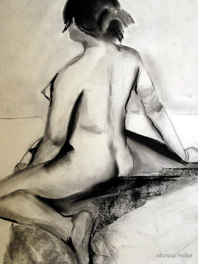 Seated Nude by Marsha Hallet