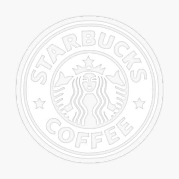 white starbucks logo Transparent Sticker