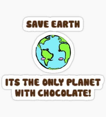 Save the chocolate Sticker