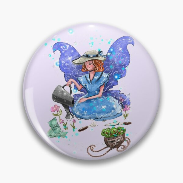 Watrina The Watering Can, Tool And Flowerpot Fairy™ Pin