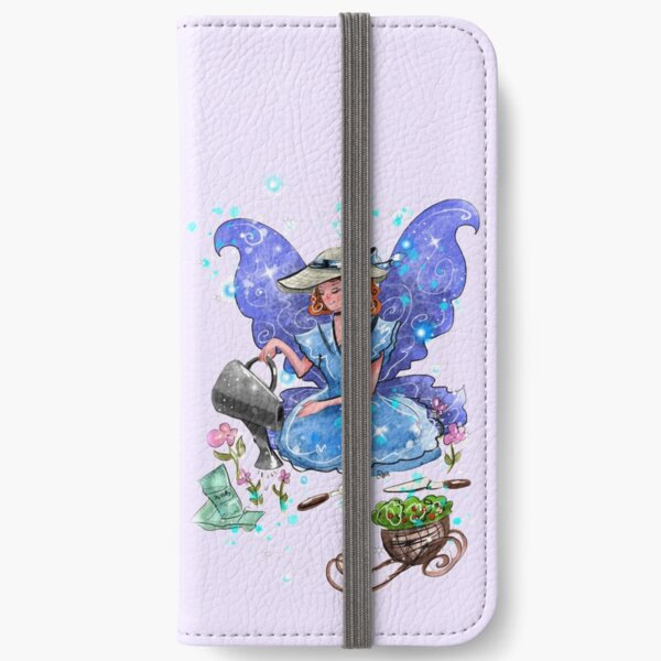 Watrina The Watering Can, Tool And Flowerpot Fairy™ iPhone Wallet