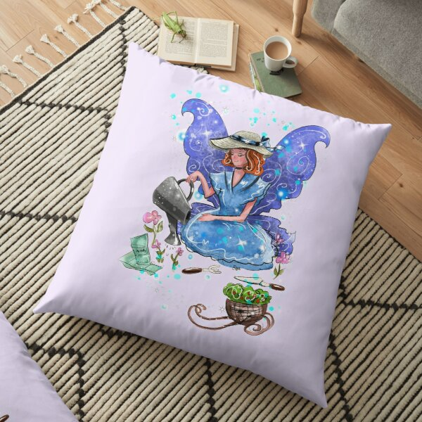 Watrina The Watering Can, Tool And Flowerpot Fairy™ Floor Pillow
