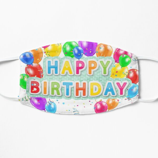 Happy Birthday Balloons Mask