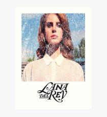 Lana Del Ray Weathered 2 Art Print