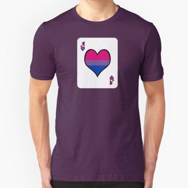 Ace Spectrum Playing Cards: Bi-romantic Slim Fit T-Shirt