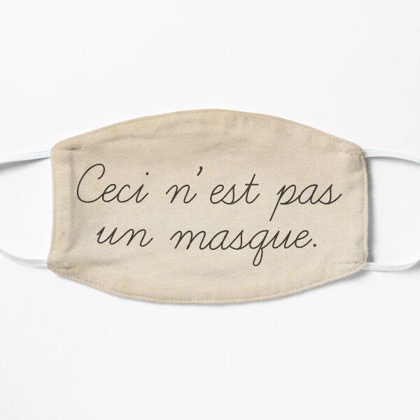 Magritte quote surrealist art style funny text. Ceci n'est pas un masque Flat Mask