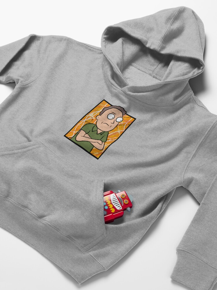 Alternate view of Jerry Smith - Rick and Morty Kids Pullover Hoodie