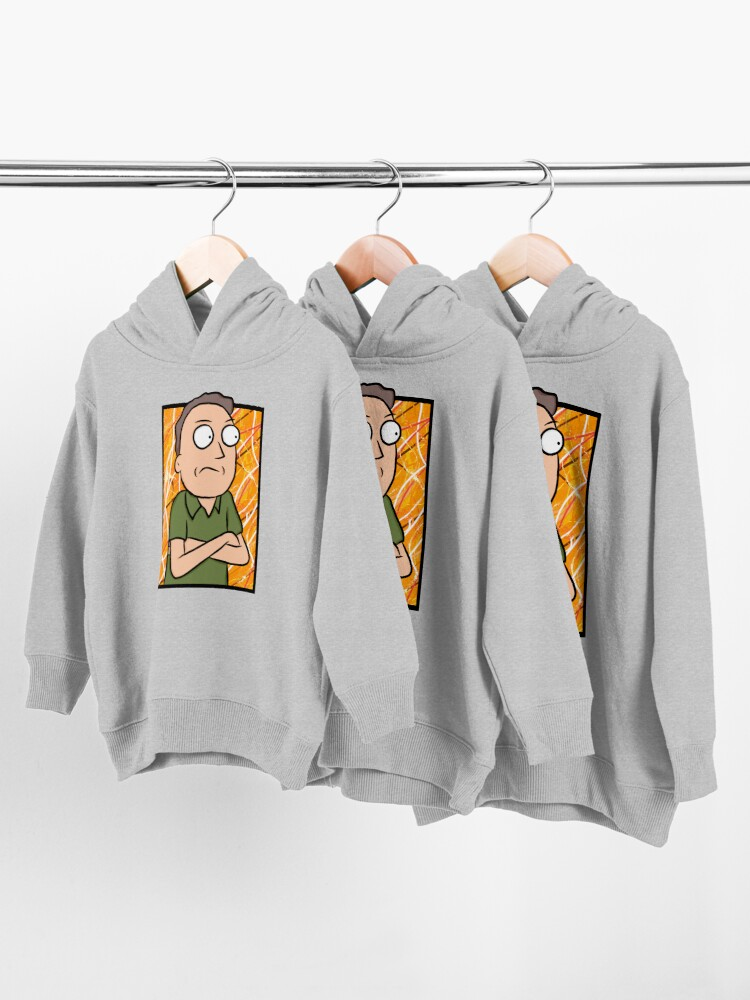 Alternate view of Jerry Smith - Rick and Morty Toddler Pullover Hoodie