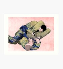 The Ground is my Ocean red Art Print