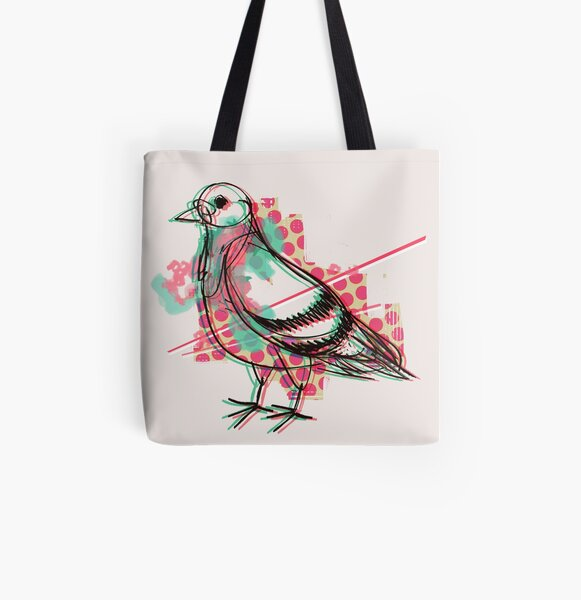 Party Pigeon All Over Print Tote Bag