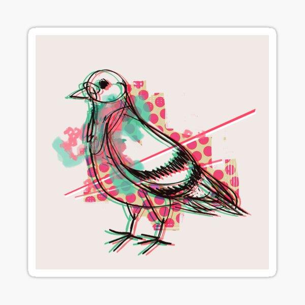 Party Pigeon Sticker