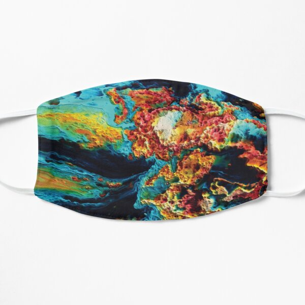 3D Colorful Paint Texture Abstract Art Mask